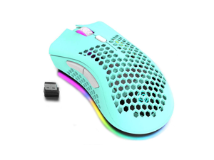 Wireless Gaming Mouse Rechargeable USB PC Gaming Mouse RGB Backlit Mouse Ergonomic Optical Mice W/Honeycomb Shell for PC Computer Laptop