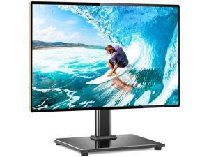 Universal Table Top TV Stand TV Base Replacement for Most 27 30 32 39 40 42 43 46 50 55 inch LCD LED Plasma Flat Screen TVs, Vesa Mount Holds up to 88lbs, Height Adjustable and Cable Management