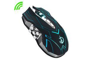 LingDong Wireless Gaming Mouse, 10 Programmed Buttons, 3 Adjustable DPI, Rechargeable  Battery, 7 Breathing Light, Ergonomic  USB Computer Mice RGB Gamer Desktop Laptop PC Gaming Mouse