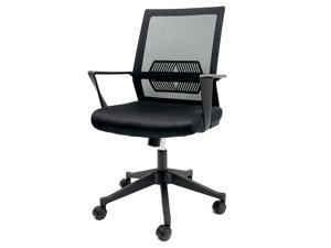 GIAS Office Chair Ergonomic Mesh Desk Computer Chair Vertical Lumbar Support Comfortable Executive Swivel Chair,black
