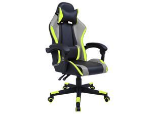 GIAS Gaming Chair Racing Style Ergonomic High Back Computer Chair With Adjustable Headrest and Lumbar Support Swivel Office Chair, Seat Height Adjustable,Black/Green