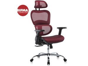 Gaming Chair, Ergonomics Computer Chair Desk Chair High Back Chair for Home Office,Game Room w/Adjustable Headrest and Armrests