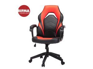 Gaming Chair, Racing Style Computer Desk Chair Padded Armrests Ergonomic Lumbar Support Adjustable Height