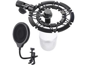 Razer Seiren Mini Shock Mount and Pop Filter with Foam Matching Mic Boom Arm Stand, Compatible for Razer Seiren Mini Microphone by