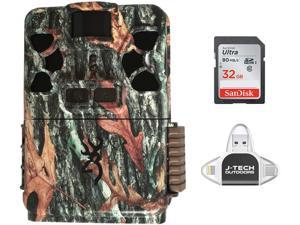 Browning Patriot (2020) Trail Game Camera Bundle Includes 32GB Memory Card and J-TECH iPhone/iPad/Android USB Memory Card Reader (24MP) | BTC-Patriot-FHD
