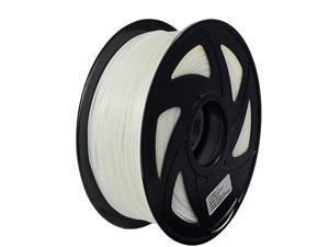 3D Flexible White TPU Filament 1.75 mm, 2.2 LBS (1KG) Material: TPU,Hardness 95A