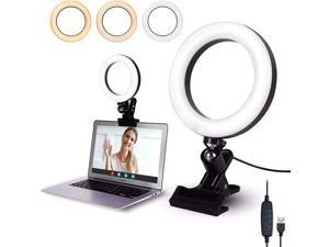 Video Conference Lighting Kit, Conference Light, Zoom Lighting, LED Ring Light Clip On for Computers, Monitors, and Laptops, Distance Learning, Webcam and Zoom Calls, Self Broadcasting and Live