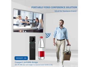 Smart All in One Video Conference Camera HD 1080P with Conference Room Omnidirectional Microphone and Conference Speaker for 3 to 8 People Small-Group Business Meetings (100-400sqft) RP-65