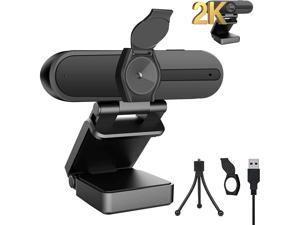 2K Webcam with Microphone & Privacy Cover, 2K 4MP QHD USB Web Computer Camera,85 Degree,2K 1440P Webcam for Laptop Computer Desktop PC YouTube Zoom Skype Video Conference/Calling/Streaming