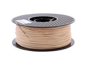 Wood PLA Filament 1.75mm 3D Printer Filament 2.2 LBS Light Wood PLA Wooden Color Materials 1 KG Spool