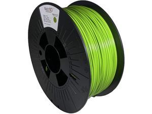 Professional 3D Printer Filament, PLA Bioplastic Composite, Apple Green, 1.75mm, 1.0 Kg, Made in USA, Filament Compatible with Prusa, Creality, FlashForge and Most FDM Printers