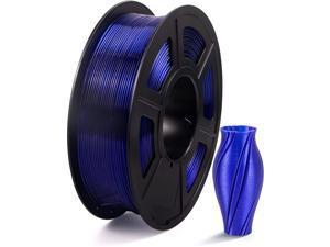 PETG 3D Printer Filament Transparent Blue, PETG Filament 1.75mm, Dimensional Accuracy +/- 0.02 mm, 1KG Spool for 3D Printer