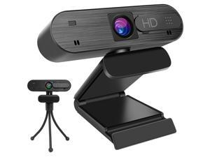 Webcam HD 1080P Computer Web Camera, Desktop Laptop Streaming Webcam, USB PC Camera with Microphone, Tripod for Video, Recording, Calling, Conferencing, Gaming