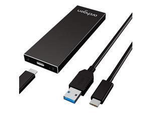M.2 SSD Aluminum Enclosure Compatible with NGFF SATA III 6Gb/s B-Key & B+M-Key 2280/2260/2242/2230 Solid State Drive USB 3.1 Gen.2 Speed Model MSD-211 (M.2 NGFF B-Key B+M Key, Black)