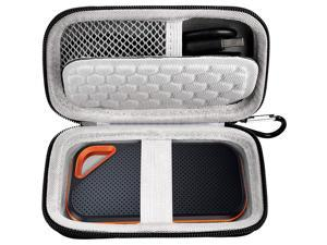 Hard Case Compatible with SanDisk Extreme PRO 500GB/ 1TB/ 2TB/ 4TB Portable External SSD and Compatible with Crucial X8 Portable SSD. Carrying Travel Holder for USB Cables. (Box Only)