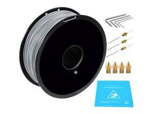 1kg PLA 3D Printing Filament Bundled with 3D Printer Nozzles Cleaning Kit, 1.75 mm, Dimensional Accuracy +/- 0.05 mm (Grey)