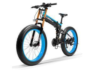 T750Plus Snow Bike 1000W Folding Electric Bike, 48V High Performance Li-ion Battery,5 Level Pedal Assist Sensor Fat Bike