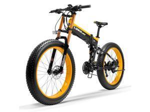 T750plus 26 Inch Snow Bike 1000W Folding Electric Bike, 48V High Performance Li-ion Battery,5 Level Pedal Assist Sensor Fat Bike