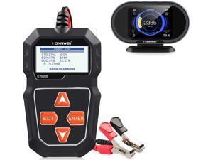 KONNWEI KW206 Car OBD2 HUD Gauge KW208 12V Car Battery Tester