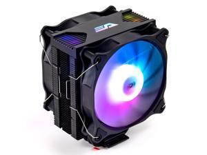 darkFlash Darkair Plus LED Rainbow CPU Air Cooler 4 Heatpipes Radiator Double 120MM 4Pin PWM Fan Tower CPU Air Cooler