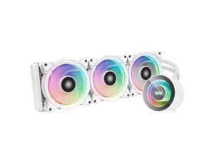 darkFlash TR360 White ARGB CPU Radiator Addressable RGB All-in-one AIO ARGB PWM Fans CPU Liquid Cooler System for Intel LGA 2066/2011V3/2011/115X and AMD FM2/AM3/AM3+/AM4