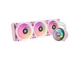 darkFlash TR360 Pink ARGB CPU Radiator Addressable RGB All-in-one AIO ARGB PWM Fans CPU Liquid Cooler System for Intel LGA 2066/2011V3/2011/115X and AMD FM2/AM3/AM3+/AM4