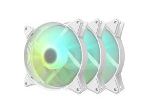 darkFlash C6 White ARGB 120mm Case Fan 3 Packs Addressable RGB 5V ARGB Computer Cooling PC Case Fans for Computer Case