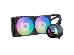 darkFlash DX240 Black 240mm ARGB Radiator Addressable RGB All-in-one AIO CPU Liquid Water Cooler 2X 120mm ARGB PWM Fans for Intel 1150/1151/1156 and AMD AM2/AMD3/AM4