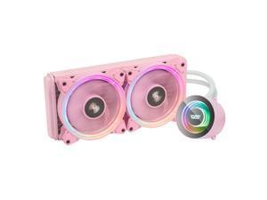 darkFlash TR240 Pink ARGB CPU Radiator Addressable RGB All-in-one AIO ARGB PWM Fans CPU Liquid Cooler System for Intel LGA 2066/2011V3/2011/115X and AMD FM2/AM3/AM3+/AM4