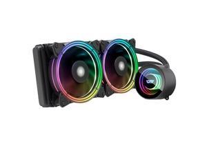 darkFlash TR240 Black ARGB CPU Radiator Addressable RGB All-in-one AIO ARGB PWM Fans CPU Liquid Cooler System for Intel LGA 2066/2011V3/2011/115X and AMD FM2/AM3/AM3+/AM4