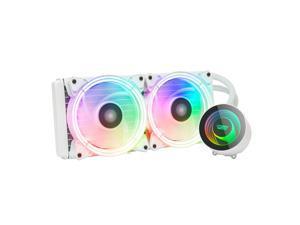 darkFlash TR240 White ARGB CPU Radiator Addressable RGB All-in-one AIO ARGB PWM Fans CPU Liquid Cooler System for Intel LGA 2066/2011V3/2011/115X and AMD FM2/AM3/AM3+/AM4