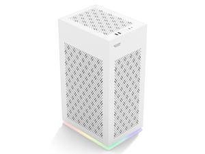 darkflash DLH21 Computer White Case With USB 3.0 Type-C Mini Tower Type ITX Case PC Gaming PC Case SFX Power Supply Black Computer Shell Cases With USB 3.0 Type-C Desktop Case