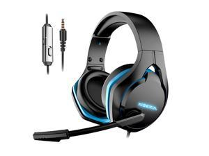 Pro Gaming Headset Strong Bass Virtual 7.1 Stereo Sound USB Wired E Sports Game Headphones Noise Cancelling Microphone LED Lights For PC PS5 PS4 Macbook Laptops Computers Black