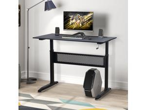 """Gaming Desk Home Office Desk Adjustable Height Standing Desk with Crank Handle Manual Lifting Table with Sturdy Legs  and Foot Pads 47.2""""L x 23.6""""W x 28.7-44.5""""H"""
