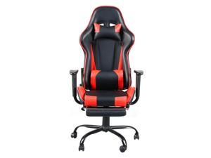 High Back Swivel Gaming Chair Ergonomic E-Sports Chair Home Office Chair Computer Game Chair with Backrest and Seat Height Adjustment,Swivel Rocker,Headrest,Lumbar Support and Footrest