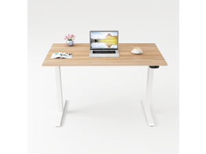 """Gaming Desk Electric Lift Standing Desk Home Office Computer Desk With Dual German OKIN Motor  Wood Color 47.2""""L x 23.6""""Wx28.3''-48'' H"""