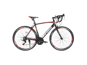 21 Speed Road Bike 700C Wheels Aluminum Road Bicycle Racing Bike City Commuter Red