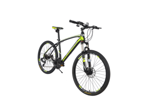 """26"""" Aluminum Mountain Bike 24 Speed Mountain Bicycle with Suspension Fork Advanced Ergonomic Green Color"""