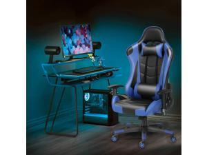 Ergonomic Gaming Chair Racing Computer Chair PU Leather Chair Adjusted Reclining Office Desk Chair with Headrest and Lumbar Support