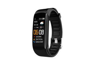 Smart Watch Couple Watch Fitness Tracker with Blood Pressure,Blood Oxygen,Heart Rate,Pedometer,Information Reminder,Call Reminder Black