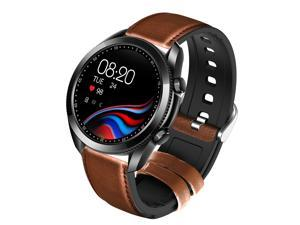 Smart Watch Couple Watch Fitness Tracker With Make/Receive Calls, Blood Pressure, Blood Oxygen, Heart Rate, Pedometer, Information Reminder, Call Reminder, 24 Sports Modes Brown