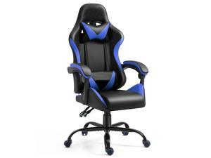 Gaming Chair Computer Game Chair Racing Gamer Chair Ergonomic Office Chair High Back PU Leather Chair with Lumbar Cushion and Headrest for Teens Kids