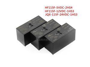 2PCS/Iot  Relay  JQX-115F  HF115F-005-1HS3  HF115F-012-1HS3  HF115F-024-1HS3  6PIN  16A