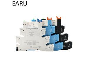 HF41F 12V 24V Integrated PCB Mount Power Relay With Relay Holder Voltage Contact Relay Module Set DIN RAIL SSR Switch AC to DC