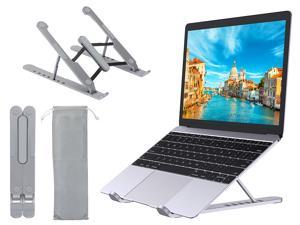 """Laptop Stand, Portable Laptop Stand for Desk, 6-Levels Adjustable Ventilated Cooling Computer Notebook Stand Riser, Compatible with MacBook Air Pro, Lenovo, Dell and More 10-15.6"""" Laptops"""