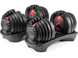 CKK Adjustable Dumbbell, Fitness Dumbbells Set 5 to 52.5 lbs Weights for Weight Workout and Strength Exercise in Home and Gym