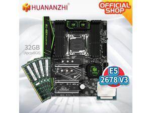X99 T8 X99 Motherboard with Intel XEON E5 2678 V3 with 4*8G DDR3 RECC memory combo kit set NVME SATA USB 3.0 ATX