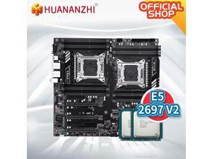 X79 16D X79 dual motherboard with Intel XEON E5 2697V2*2 memory combo kit set SATA USB3.0 NVME