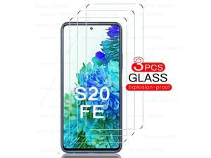 3PCS Tempered Glass for Samsung Galaxy S20 FE Screen Protector Film Explosion Proof HD Clear Protective Glass for Samsung S20FE