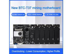 Onboard 1037U CPU HM77 Chipset VGA HDMI 8-GPU Bitcoin motherboards for miner PCI-E 16X Cryptocurrency Mining BTC Motherboard